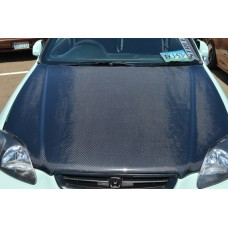 CARBON FIBER HOOD fits 99-00 CIVIC