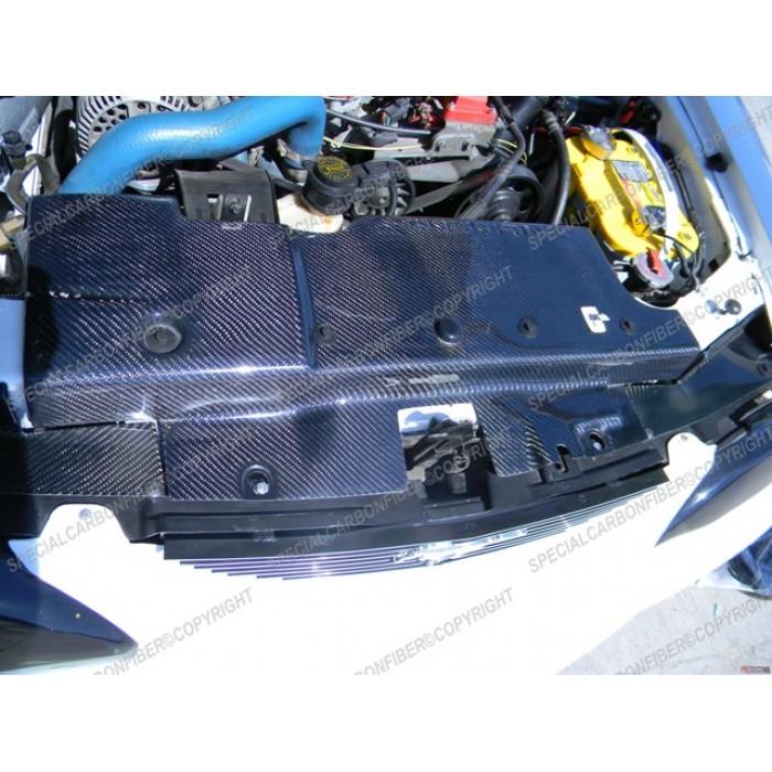 carbon fiber radiator cover fits 94 95 mustang 39 s. Black Bedroom Furniture Sets. Home Design Ideas